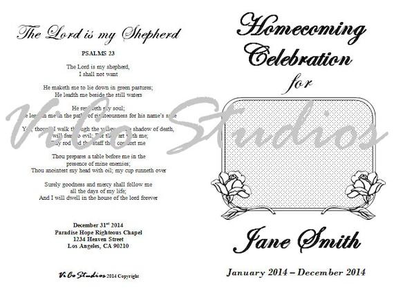 Easy Homecoming Celebration of Life Rose Flower Memorial