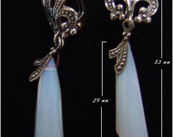Long Moonstone Earrings