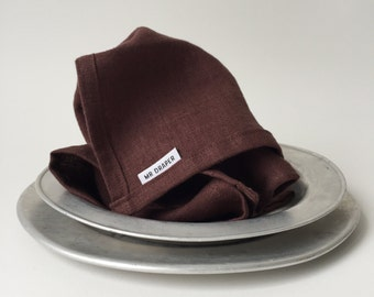 100% Linen Napkin in Oxblood (set of four)