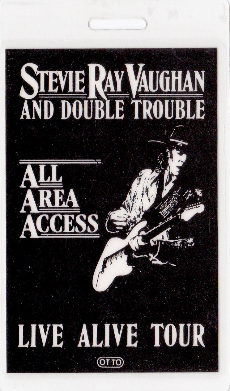 stevie ray vaughan concert pass. Black Bedroom Furniture Sets. Home Design Ideas