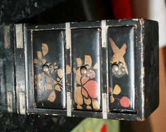 Antique Minature wooden chest of drawers