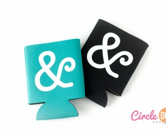 Ampersand Typography Can Hugger - Personalized Beer/Soda Can Holder for artist, graphic designer, nerdy gift, design, artsy