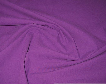 Fabric pure cotton poplin purple