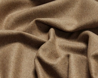 Fabric polyester new wool flanell camel roughened opaque soft