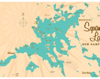 Squam Lake, NH Map Print