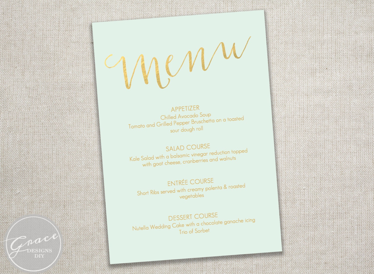 Unique dinner party menu related items Etsy