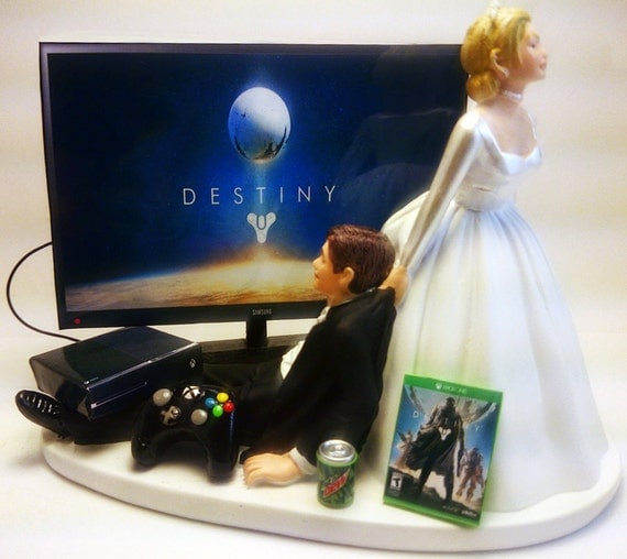 gamer wedding cake topper gamer xbox one ps4 gamer by pieceofcaketoppers4u 4440