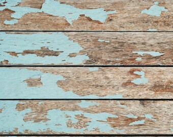 FREE EXPEDITED SHIPPING And Insurance ! New Item 5 ft x 5ft Green Paint Peeling Wood Vinyl Backdrop / Custom Photo Prop, 941