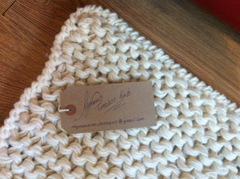Throw Rug Knitting Patterns : Huge Chunky Knitted Rug Throw Cream Black Custom