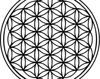 Flower of Life Sacred Geometry Self Adhesive Vinyl Decal Sticker