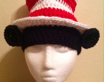 Crochet 'The Cat in the Hat' Top-Hat Beanie