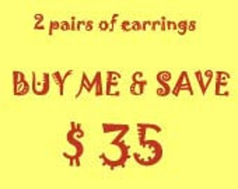 2 pairs of earrings at a discounted price