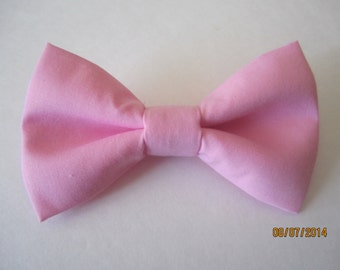 bubblegum pink bow tie, Pink bow tie for men, Men's pink bow tie, Wedding pink bow tie, solid pink bow tie, Clip on bow tie, pink bow tie