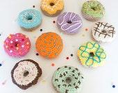 Set of 8 Minion Crochet Donuts