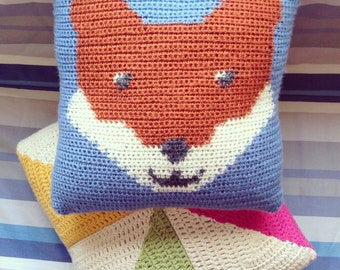 Crochet Fox Cushion