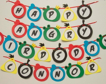 Angry Birds Birthday Banner