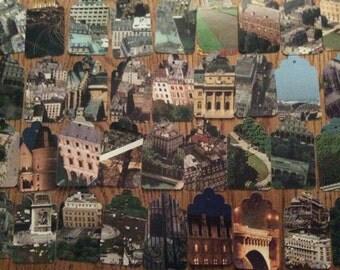 Die Cut Repurposed Paris Book Tags (Set of 15)