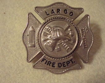 Largo Florida hat/jacket firemans badge