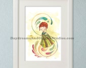 Last Chance to Buy - Frozen Princess Anna 11x17 Art Print