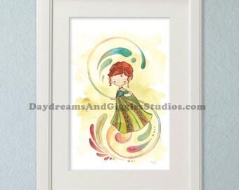 Last Chance to Buy - Frozen Princess Anna 11x17 Art Print