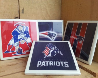 20% Off!! New England Patriots Set of 4 Coasters