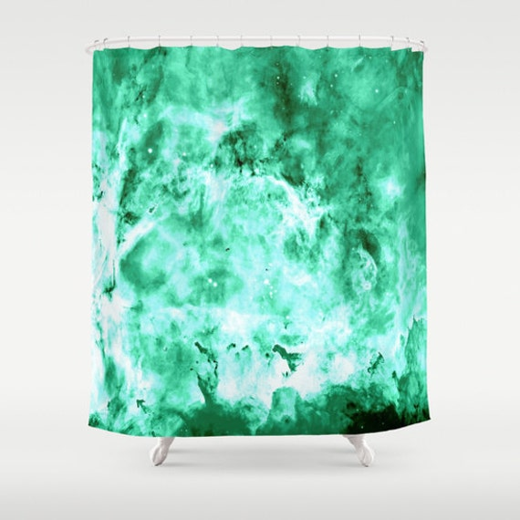 Items Similar To Shower Curtain Carina Nebula Seafoam Shower Curtain Nasa Image Bathroom
