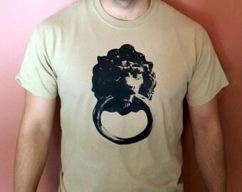 Lion Door Knocker Graphic T Shirt