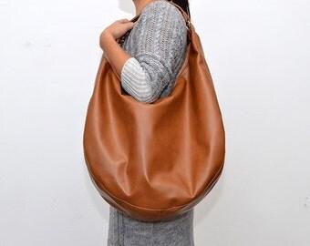 Large HOBO Bag Handbag Various Colours Leather Like
