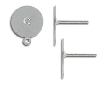 10-100pcs--Ear post, Stainless Steel with 10mm (B4-7)