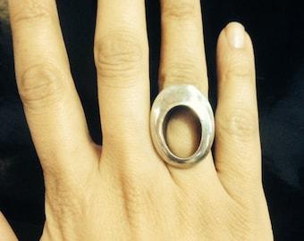 Fun Silver Peephole Ring