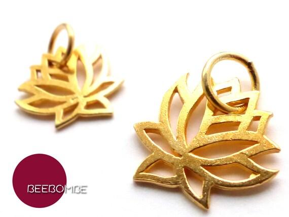 925 argent sterling plaqu symbole pendentif fleur de lotus de. Black Bedroom Furniture Sets. Home Design Ideas