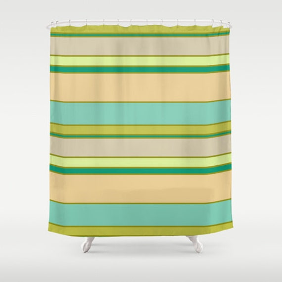 Turquoise And Yellow Shower Curtain Teal By Designbyjuliabars
