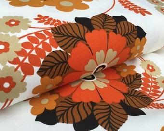 German Vintage original 70s fabric 50 x 120 cm 70's fabric flowers box5