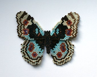 Beaded Blue Pansy Butterfly