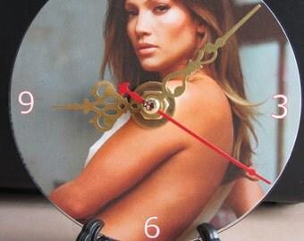 New Gorgeous Jennifer Lopez J.LO Actress Singer Music Artist CD Clock