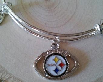 Pittsburgh Steelers Bangle Style Charm Bracelet