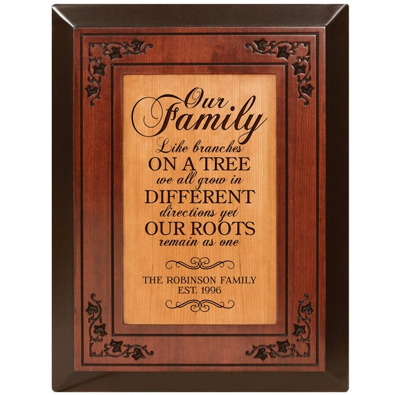 Family Tree Wedding Gift: Personalized Our Family Tree Wedding Gift Parent By