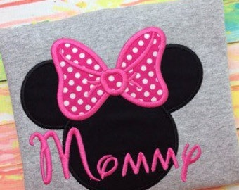 Minnie Mouse Shirt - Adult - Mommy - Birthday