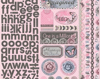SALE! Isabella Collection - 12 x 12 Cardstock Stickers - Combo