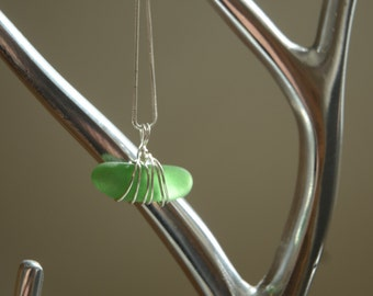 Sterling Silver and Italian Sea Glass Necklace