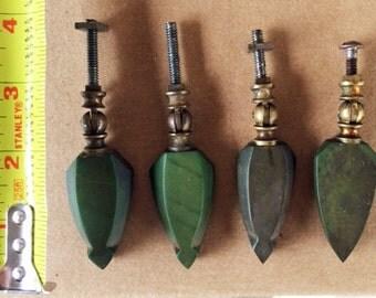 Dark Green Jade Pulls or Knobs