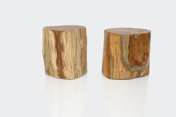 Racine de teck massif bois tabouret bloc ~ Bloc De Bois A Sculpter