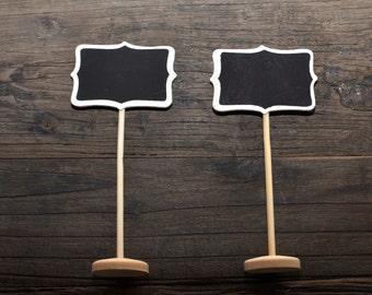 5/pk Mini Chalkboard Sign w/ Stand, Chalkboard Table Numbers