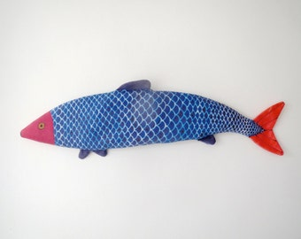 Lavender Fish - Eye Pillow - Organic Flax and Lavender - Koi Fish