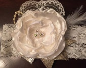 Flower Girl Wedding Custom Satin Flower Headband