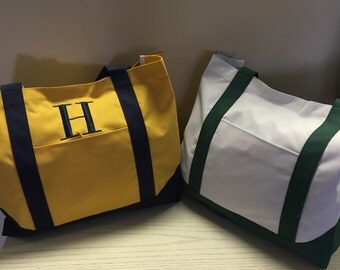 Green White Tote Bag