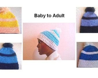 crochet beanie all sizes