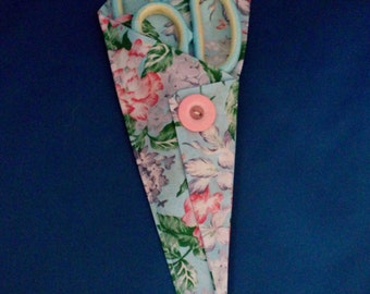 Floral Patterned Fabric Scissor Holder/Pouch