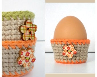 Egg Cups SET OF 2 Easter Egg Cozy Crochet Egg Cosy Decor Easter Table Decoration Spring Decor Hostess Gifts Easter Baskets