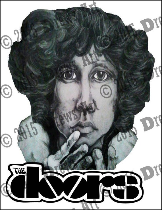 Poster Of Jim Morrison Illustration From The Doors By Maebeo